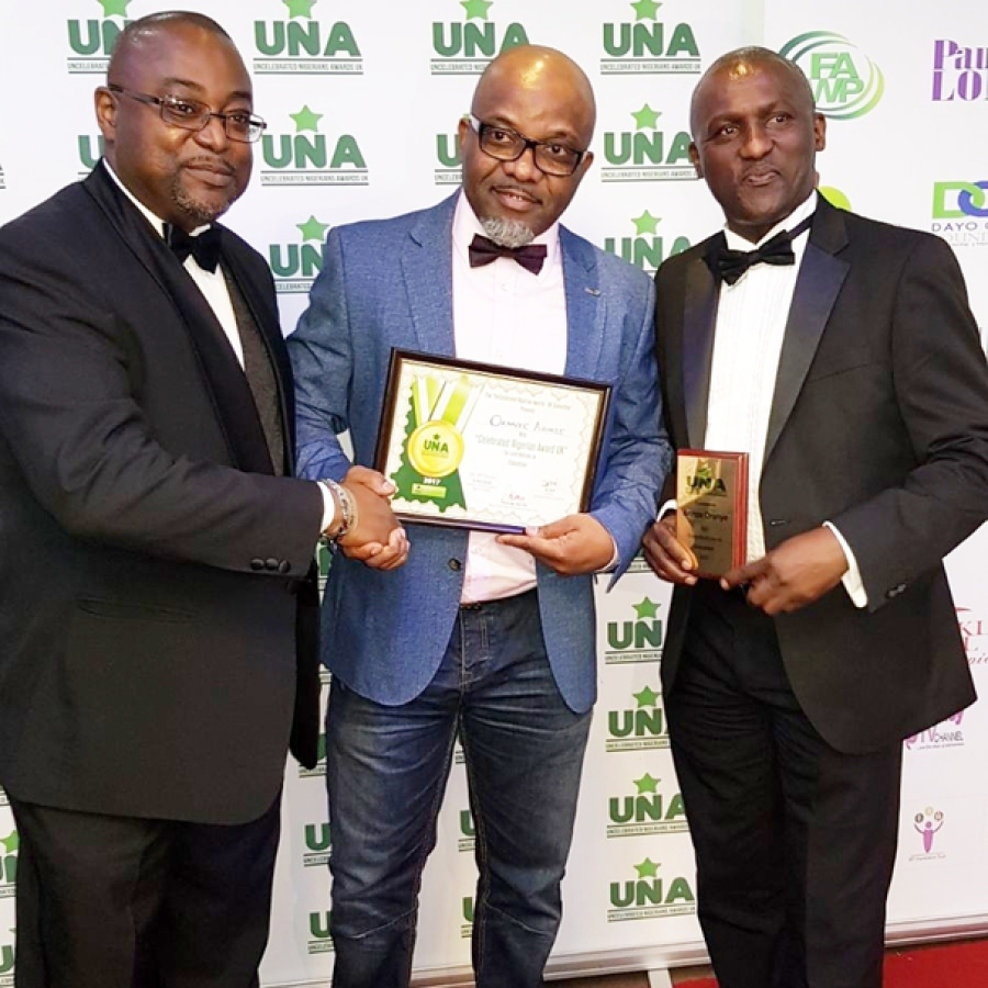 RECEIVING Celebrated Nigerians Awards UK FOR CONTRIBUTIONS TO EDUCATION